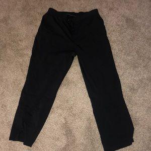 Purple Label black scrub pants